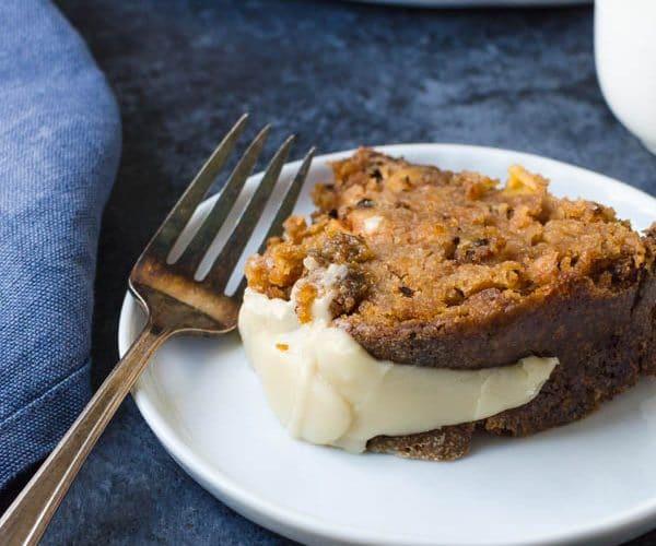 Apple Walnut Cake with Maple Glaze.