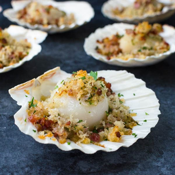 5 fancy baked sea scallops