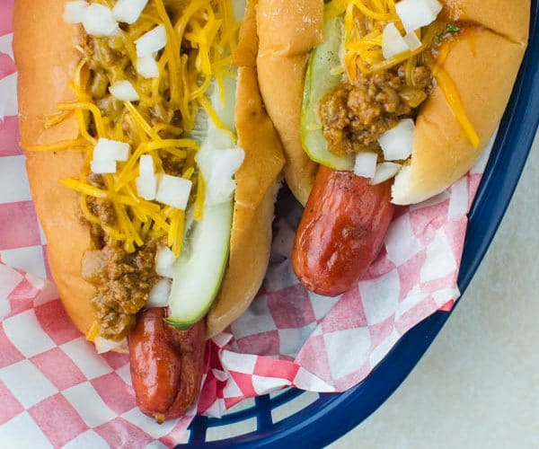 chili cheese dilly dogs