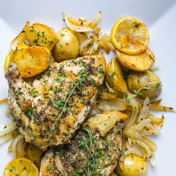 Pan Roasted Chicken Breasts with Dijon Sauce