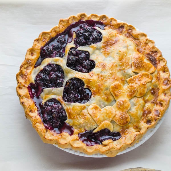Baked Homemade Blueberry Pie