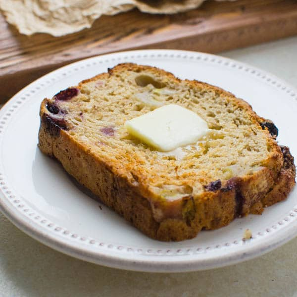 toasted Best Blueberry Banana Bread recipe