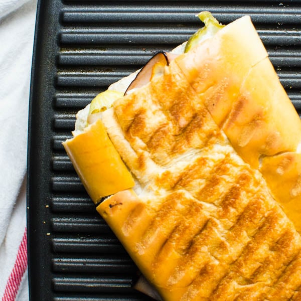 Authentic Cuban Sandwich hot and ready to eat.