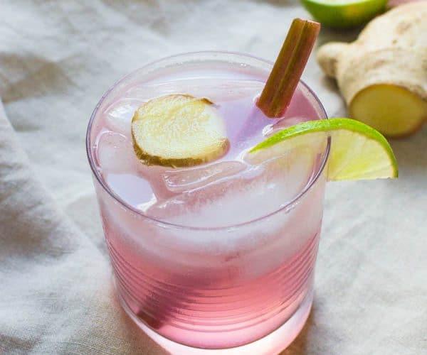 Rhubarb Ginger Gin Rickey Recipe