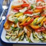Grilled Vegetable Tomato Mozzarella Caprese