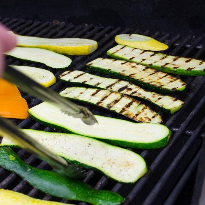 grilling vegetables for Grilled Vegetable Tomato Mozzarella Caprese