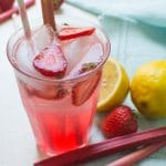 sparkling rhubarb ginger lemonade recipe