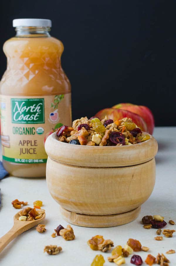 Naturally sweetened crunchy granola in a bowl.