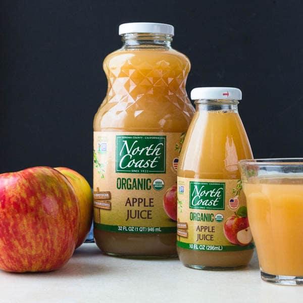 North Coast organic apple juice.