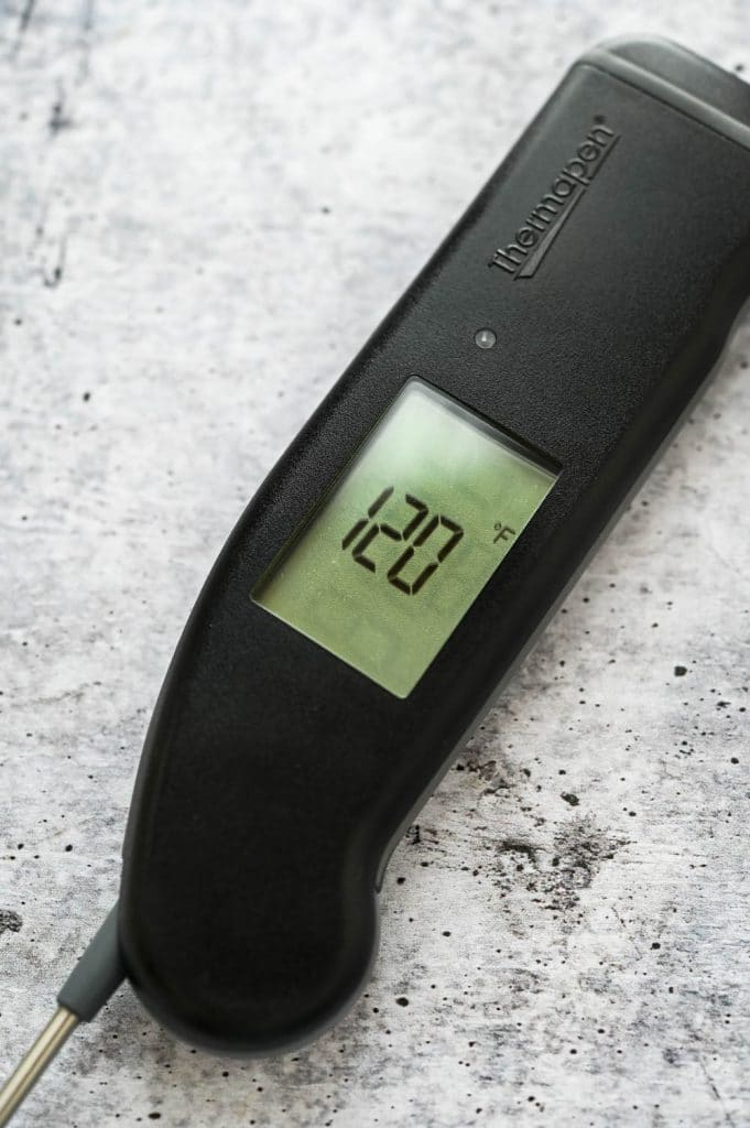 A digital read thermometer so you know when the meat is done.