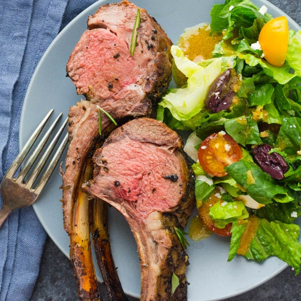 Grilled Herb Crusted Rack of Lamb