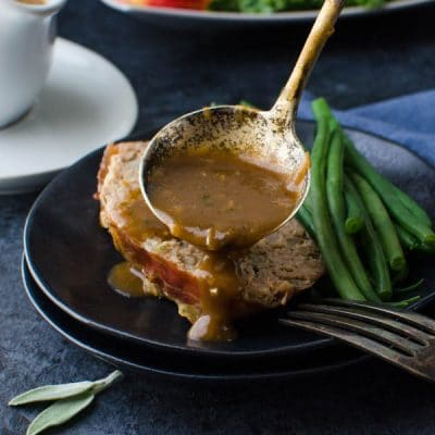 meatloaf and gravy.