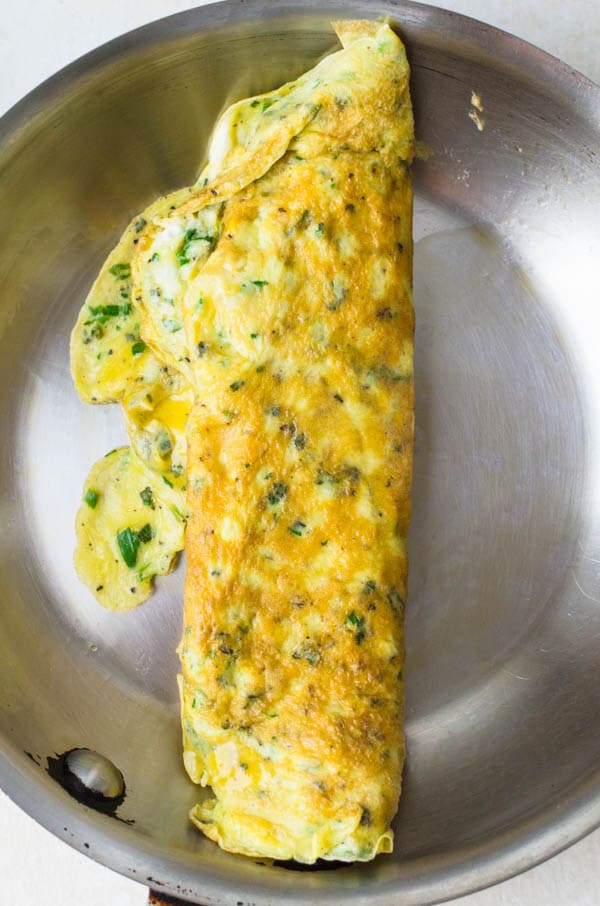 cooked herb omelette.