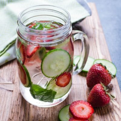 Strawberry Cucumber Basil Water – A Spa Water Recipe