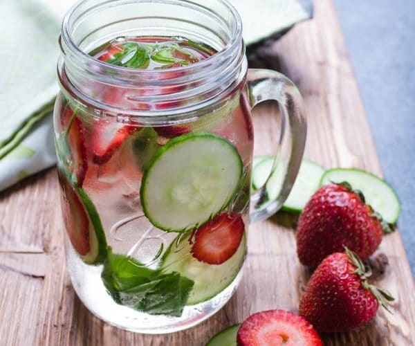 Strawberry Cucumber Basil Water - A Spa Water Recipe