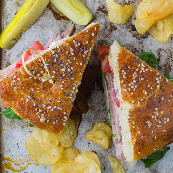 make cold roast beef sandwich with horseradish cheese for your next tailgate sandwich.