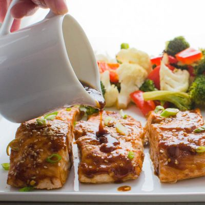 Hoisin-Maple Asian Glazed Salmon
