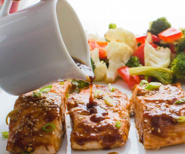 Hoisin-Maple Asian Glazed Salmon
