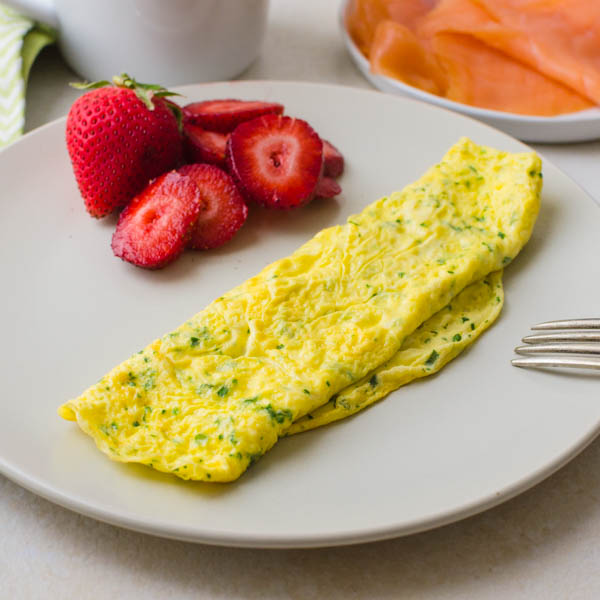 cooked herb omelette