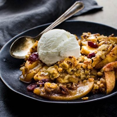 Baked Apple Crisp with Easy Crumble Topping