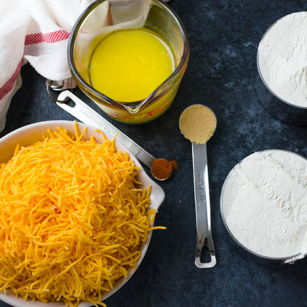 ingredients for Cheese Olive Balls
