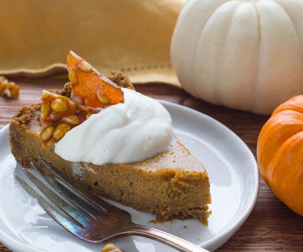 Thanksgiving Pumpkin Pie with Gingersnap Crust