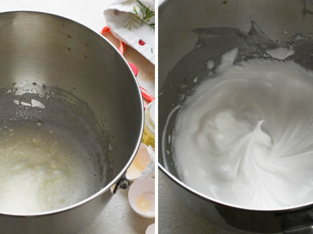 making meringue for 5 ingredient cookies.