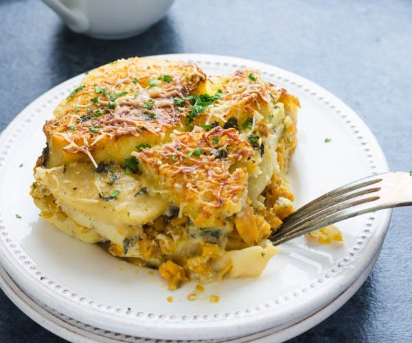 Sweet Potato and Apple Breakfast Strata Recipe