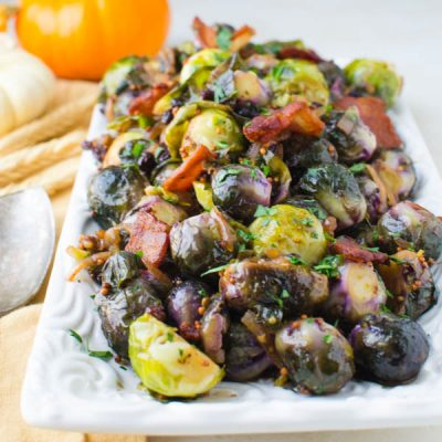 Tangy Glazed Stovetop Brussels Sprouts
