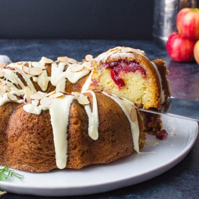 Cranberry Coffee Cake with Leftover Cranberry Sauce