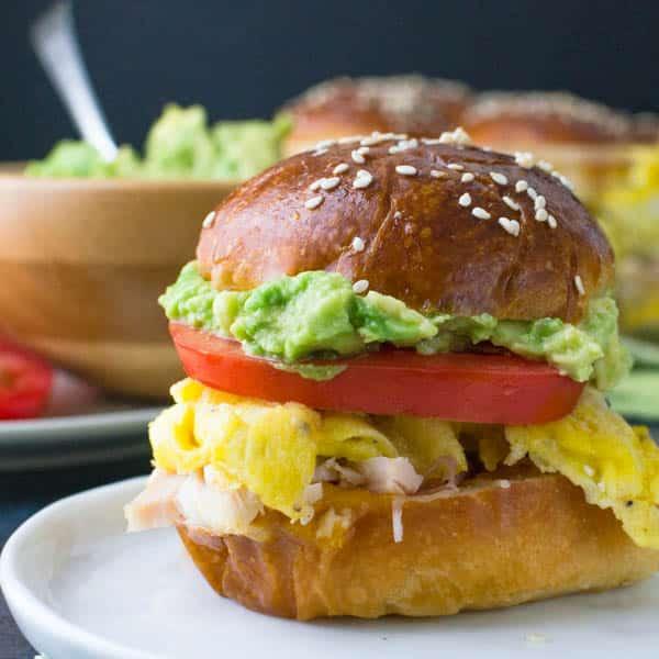 Leftover Turkey and Egg Oven Sliders
