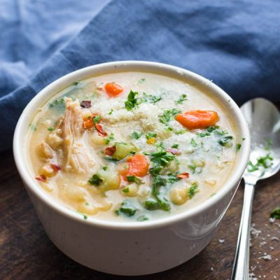 Leftover Turkey Bean Soup with Kale
