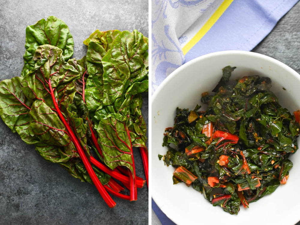 sautéed swiss chard for boneless lamb roast recipe.