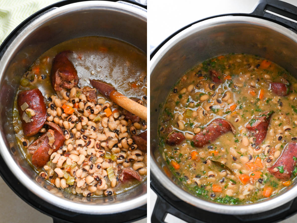 Hoppin John Soup in the Instant Pot.