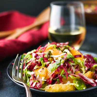 Radicchio Mandarin and Brussels Sprouts Salad
