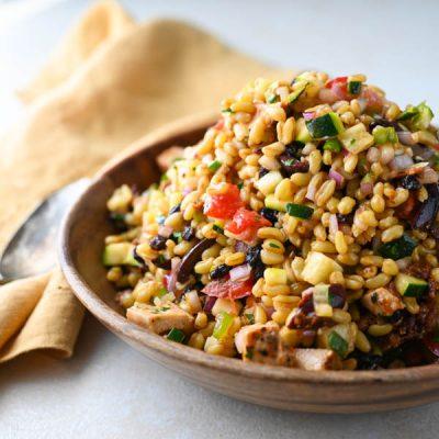 Mediterranean Khorasan Wheat Salad