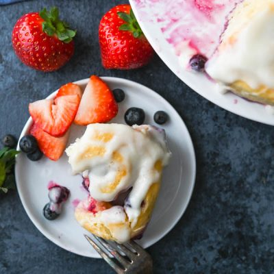 Lemon Berry Sweet Buns with Lemon Cream Cheese Glaze