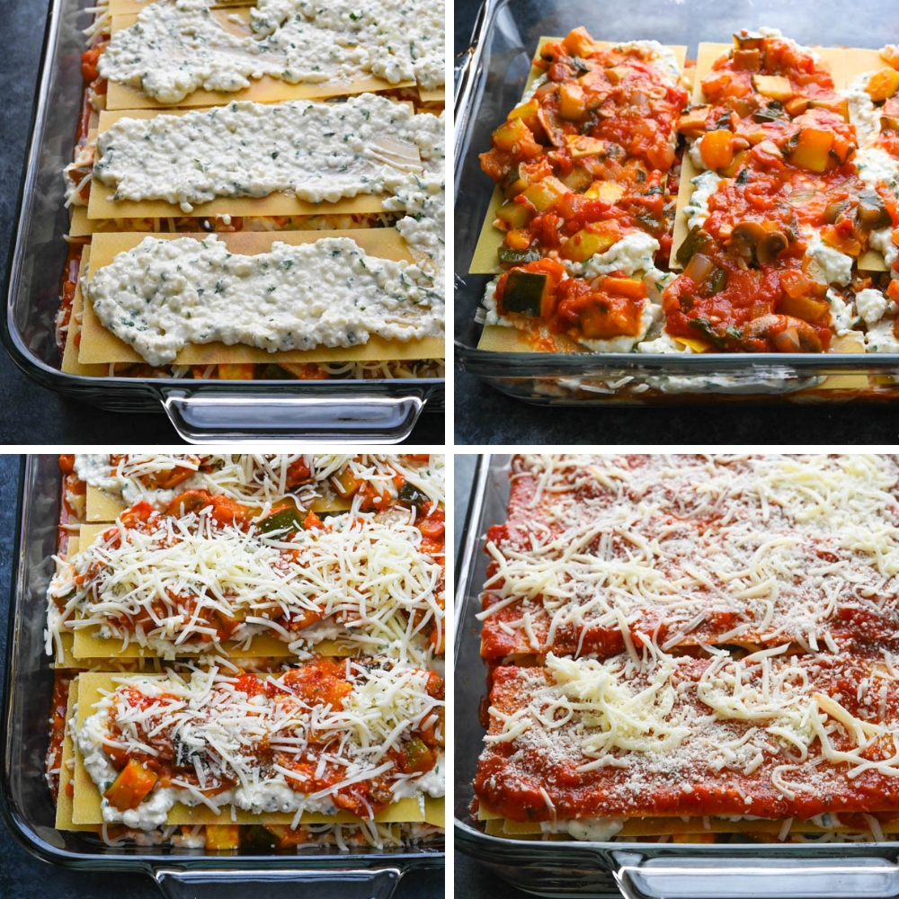 Astounding Vegetable Ratatouille Cottage Cheese Lasagna Garlic Zest Home Interior And Landscaping Mentranervesignezvosmurscom