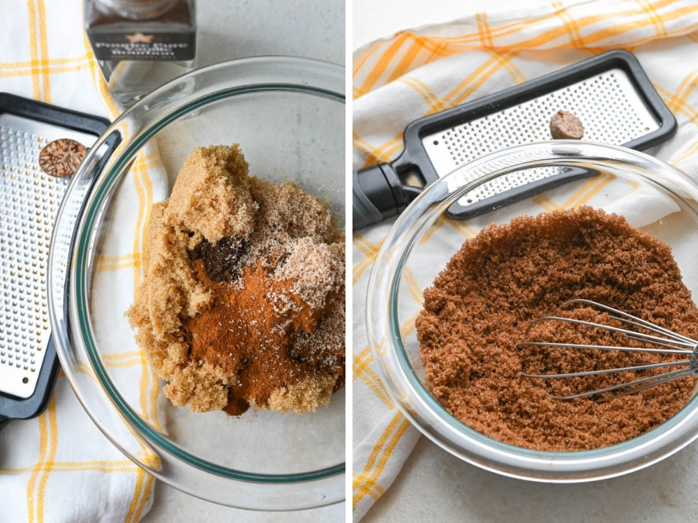 making cinnamon walnut filling