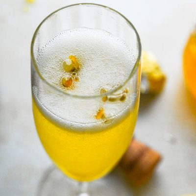 Champagne Passion Fruit Cocktail - An Easy Bellini Recipe