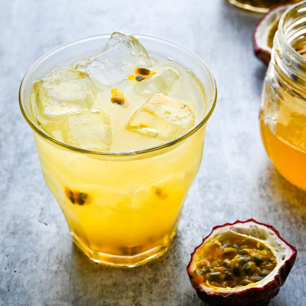 Sparkling Passion Fruit Lemonade