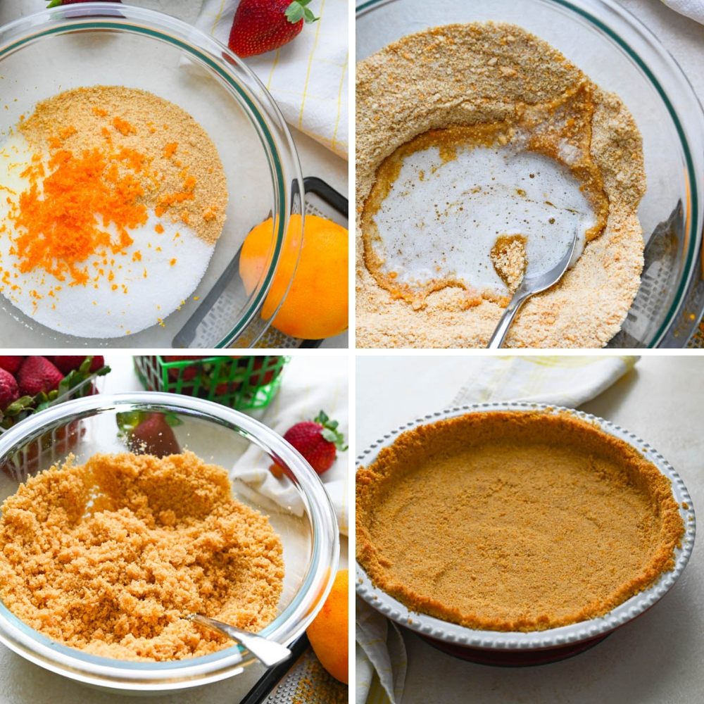 steps for making graham cracker crust.