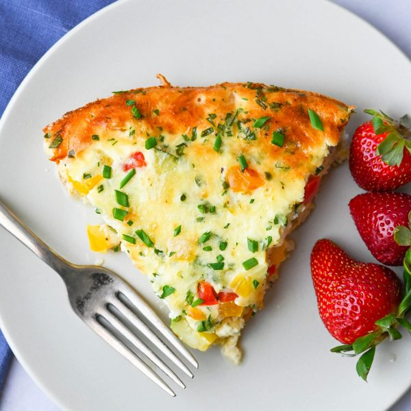 Quick and Easy Crustless Vegetable Quiche