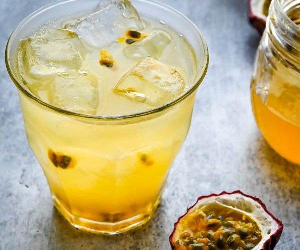 Sparkling Passion Fruit Lemonade
