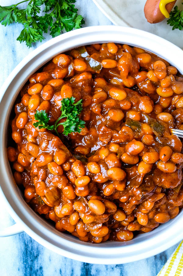 baked beans are delicious with grilled meats.