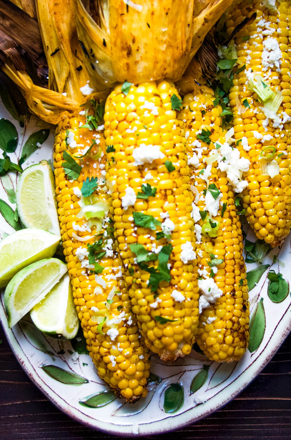grilled corn on the cob is a great 4th of july side dish.