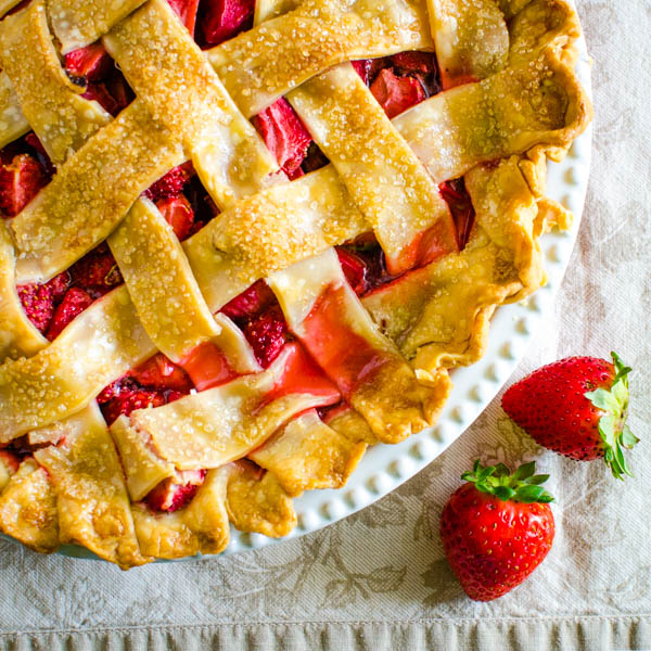 strawberry rhubarb pie is another patriotic dessert.
