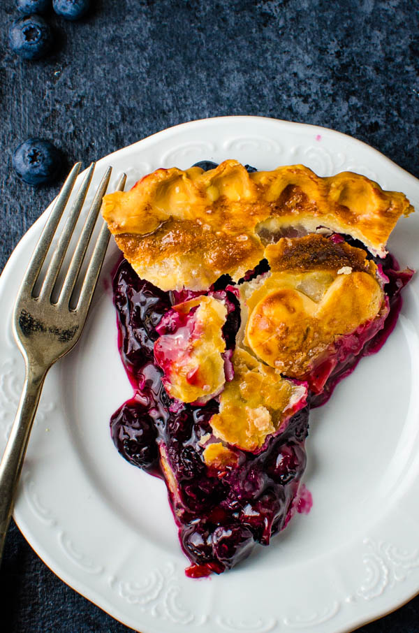 This patriotic dessert just needs a scoop of vanilla - homemade blueberry pie.