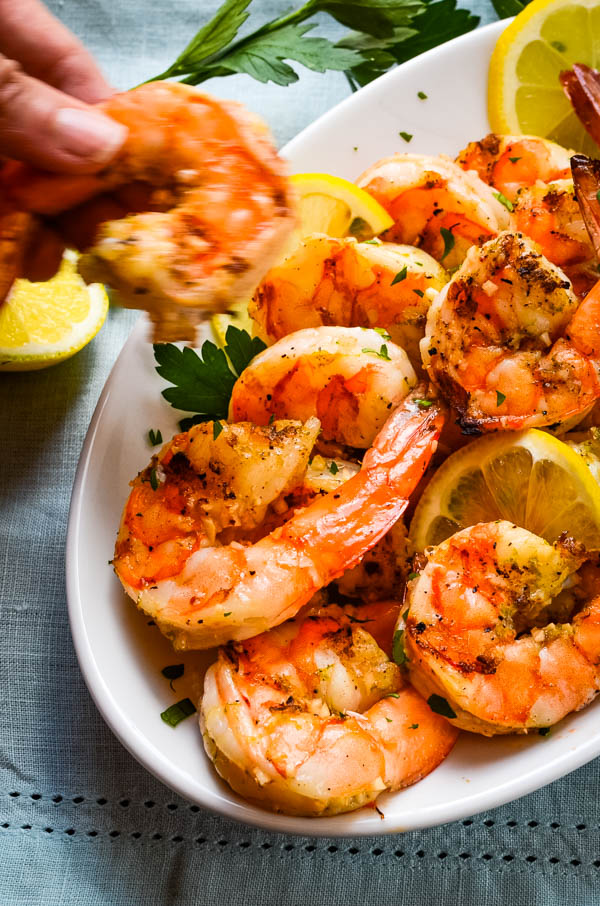 grilled shrimp cocktail is an impressive Fourth of July snacks.