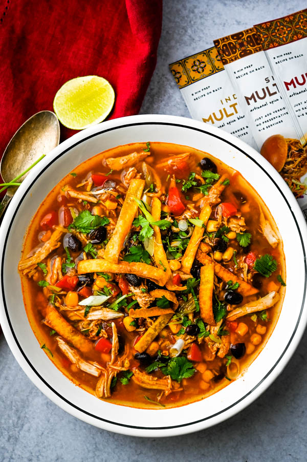 More new food trends: Southwestern chicken soup made from Zen Of Slow Cooking Spice Packet.